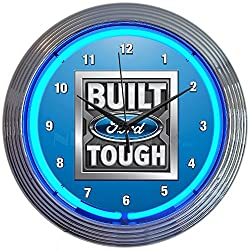 Neonetics Built Ford Tough NEON Clock