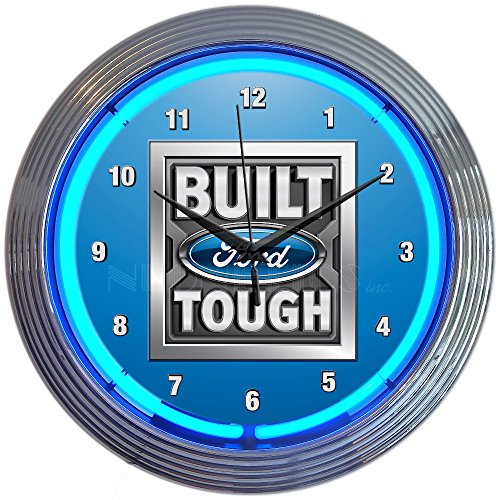 Neonetics Built Ford Tough NEON Clock