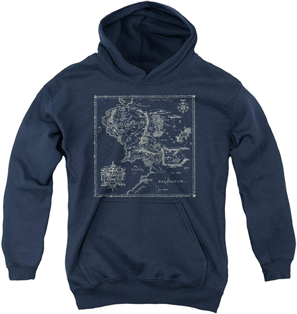 Lord Gorgeous Of The Rings Map Pull-Over Hoodie Me Unisex Excellent Youth