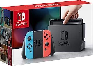 کنسول بازی Nintendo Switch 32 GB Console w / 32 GB | Neon Red / Neon Blue Joy-Con | رزولوشن 1080p | 802.11ac WiFi | HDMI | صدای فراگیر | دوربین متحرک IR