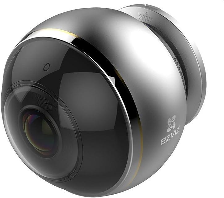 EZVIZ Mini Pano Cámara de seguridad 3MP 2.4Ghz & 5Ghz WIFI Doble Banda Vigilancia Audio Bidireccional Visión Nocturna EZVIZ Nube disponible Compatible con Alexa Google home y IFTTT