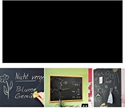 Angel Bear Black Board (45x200cm) Wall Sticker Removable Decal Chalkboard with 5 Chalks for Home School Office College Room Kitchen Kids