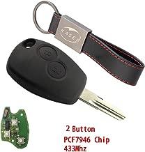 batteria con 2 tasti microtasti custodia per chiavi dell/'auto colore: nero pieghevole Hamimelon