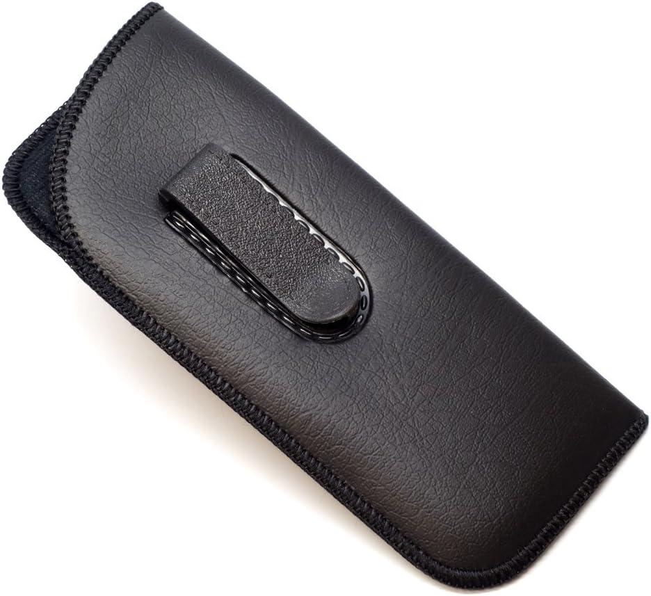 Half Clip Soft Eyeglass Case in Black