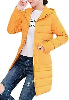 Macondoo Womens Hoodie Quilted Winter Slim Casual Puffer Down Coat Outwear