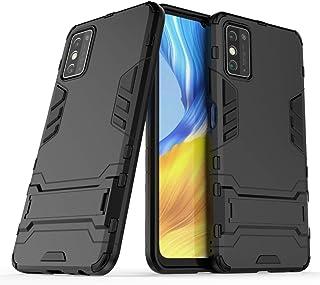 LENASH För Huawei Honor X10 Max PC + TPU Shocksäker skyddsfall med osynlig hållare Fallskydd (Color : Black)
