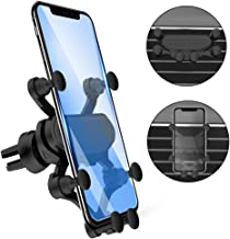 Car Phone Mount, Phone Holder for Car Gravity Linkage Hand-Free 360 Degree Adjustable Vehicle Air Vent Bracket for iPhone, Samsung, LG and More Smartphone (Black)