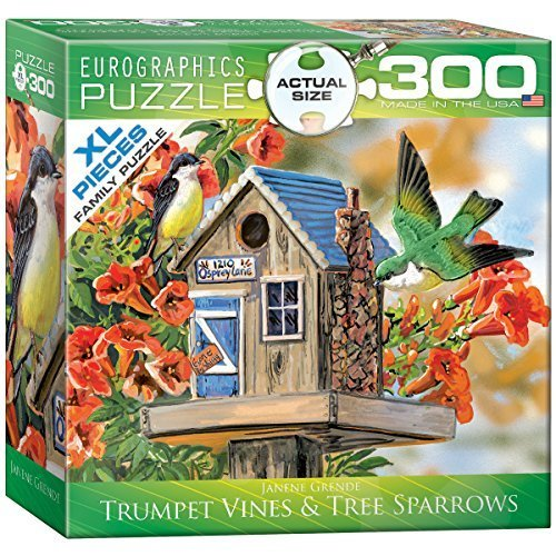 EuroGraphics Trumpet Vines and Tree Sparrows Puzzle (300-Piece) by EuroGraphics