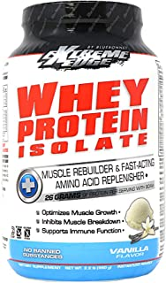 Bluebonnet Nutrition Extreme Edge Whey Protein Isolate Powder, Grass Fed Cows, 26 Grams of Protein, No Sugar Added, Non GM...