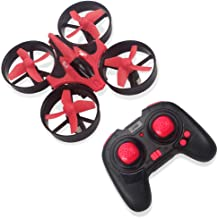 $20 » RCtown Mini Drone for Kids and Beginners, 2.4GHz 4CH Remote Control Nano Quadcopter with Altitude Hold, Headless Mode, 3D Flips, One Key Return (Red)