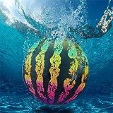 Zueyen Bola de sandía, juguete subacuático para piscina con adaptador de manguera para pasar bajo el agua, flotando, regatear, buceo y juego
