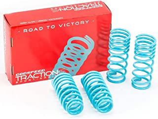 Godspeed LS-TS-HA-0004-B Traction-S Performance Lowering Springs, Reduce Body Roll, Improved Handling, Set of 4
