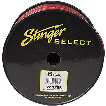 Stinger SSVLP8R 8Ga Matte Red Power Wire 250'