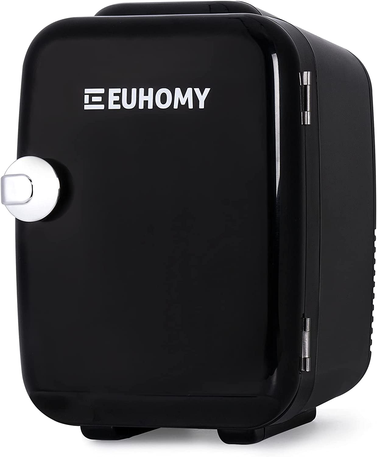 Euhomy Mini fridge for bedroom, 4 L / 6 cans Portable fridge & Electric Cooler and Warmer, Car fridge with AC/DC, Small fridge for room, office, dorm. Mini fridge for skin care and cosmetics.(Black)