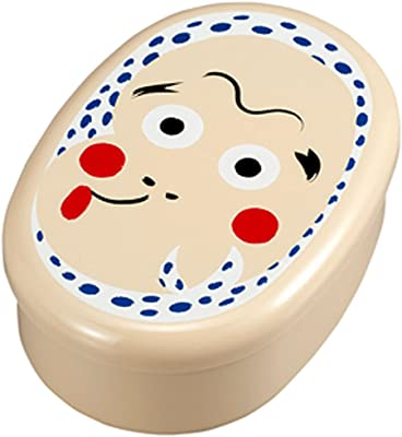 たつみや(Tatsumiya) おめん 小判一段弁当 ひょっとこ サイズ:約W16.2 D11.3 H5.9 52952