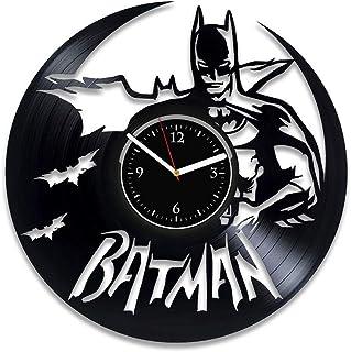 Horloge Murale en Vinyle DC Comics Batman Horloge Murale Batman Anniversaire pour garçon DC Comics Horloge pour Enfants Fa...