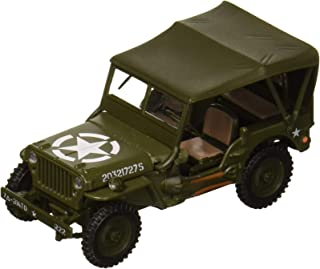 Cararama 1: 43 1/4 Ton Military Vehicle Soft Top (Green) Diecast Vehicles