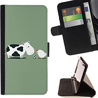 STPlus Cow Chicken Egg Funny Wallet Card Holder Cover Case for Motorola Moto Z2 Force Edition/Moto Z2 Play
