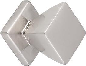 Metafranc Meubelknop 20 x 20 mm - aluminiumlook - hoogwaardige afwerking - mooi gevormd en decoratief - incl. montagemater...