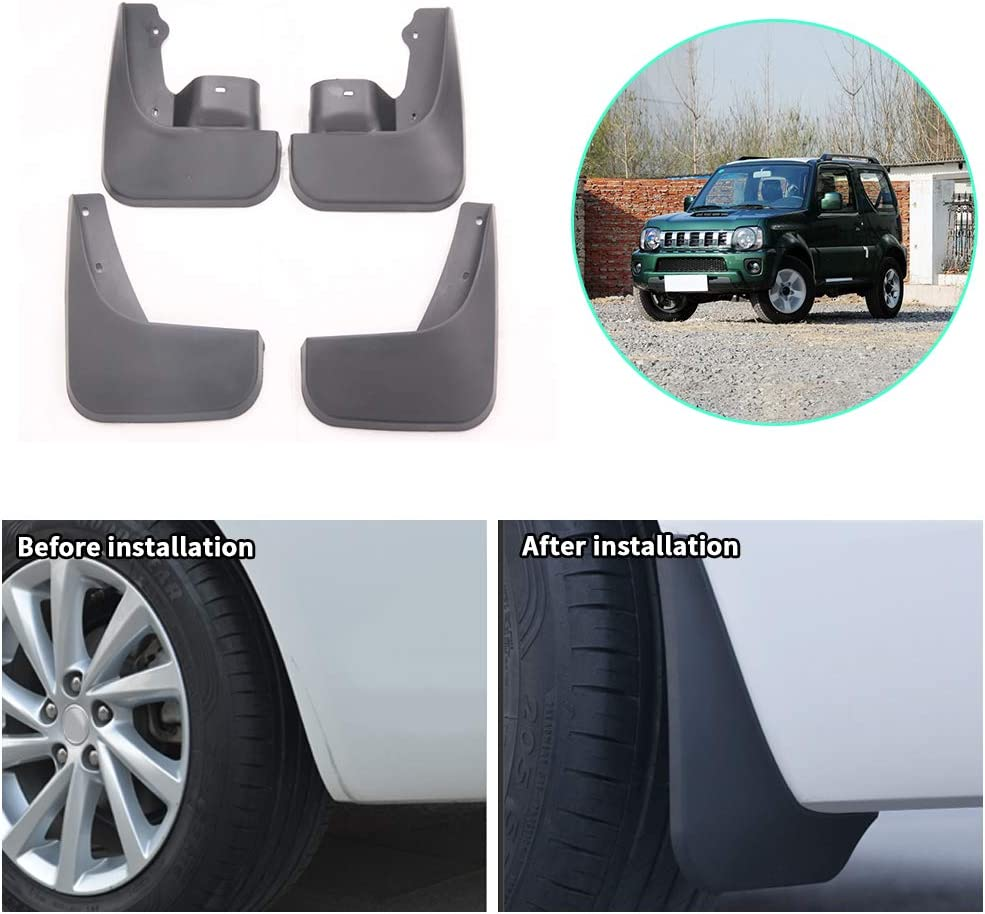 Upgraded Car Mud Flaps Splash for Jimny 2005-2015 free shipping Guards Award Suzuki