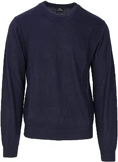 Luxury Fashion | Armani Exchange Mens 8NZM3AZM8AZBLUE Blue Sweater | Season Permanent