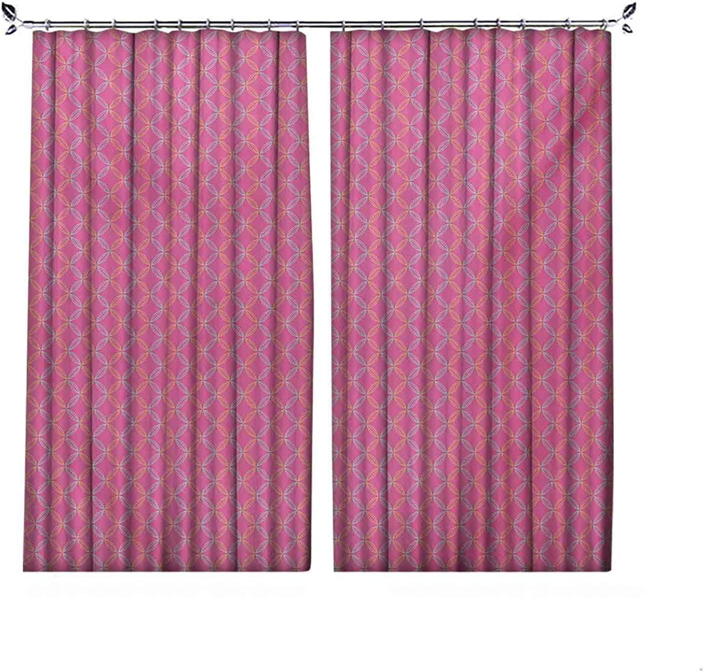 Room Darkening Modern Curtain Circular Super sale period limited Petal Flower Today's only with Shapes