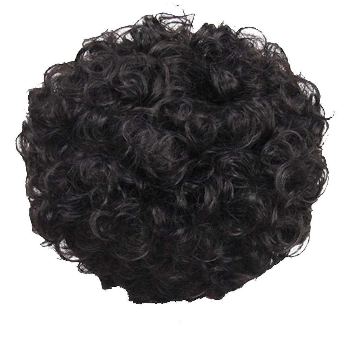 フルーツ野菜ビスケットポータブルかつら、女性、短い髪、巻き毛、かつら、エルフカット、かつらキャップ、27cm