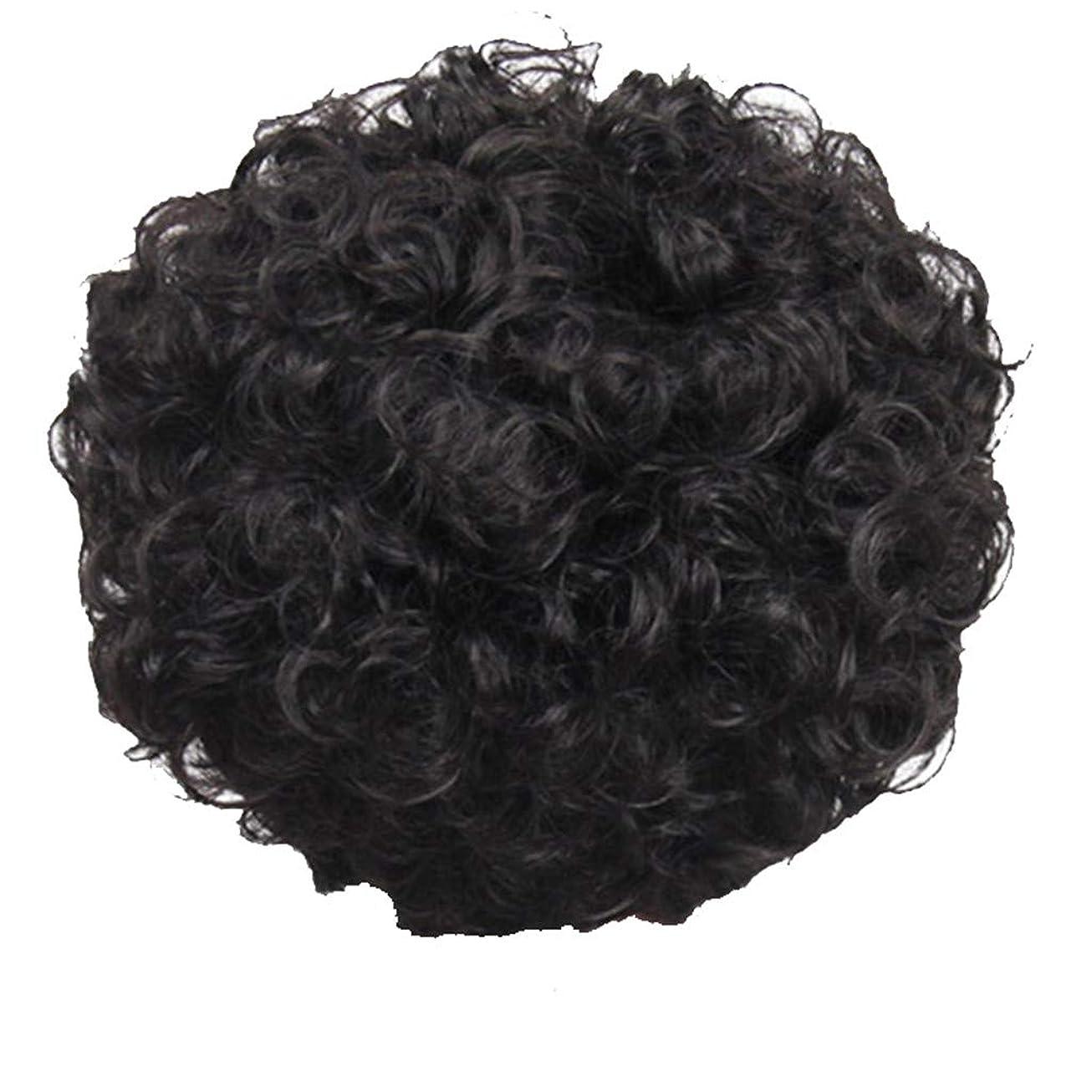 評論家つぶすしみかつら、女性、短い髪、巻き毛、かつら、エルフカット、かつらキャップ、27cm