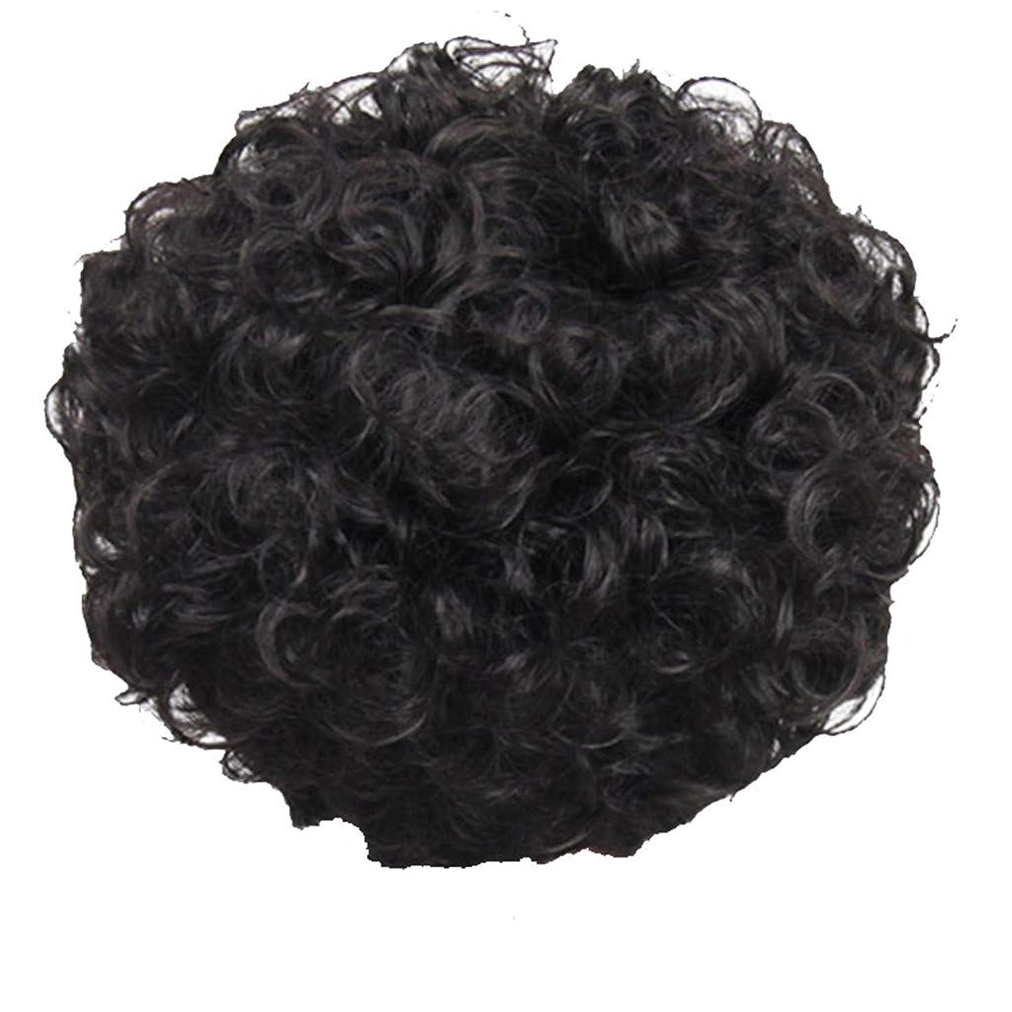 磨かれた適度に狂乱かつら、女性、短い髪、巻き毛、かつら、エルフカット、かつらキャップ、27cm