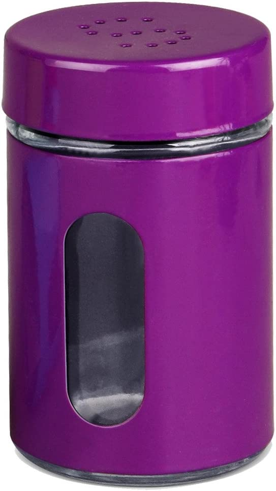 Home Basics Salt OR Pepper Colored Shaker with Clear Window (Purple SALT)