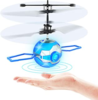 Flying Toy Ball,Infrared Induction UFO RC Flying Toy,Built-in LED Flying Drone Indoor and..