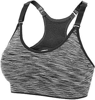 Glamroot Women's Active Yoga Sports Bra Wireless Post-Surgery Bra