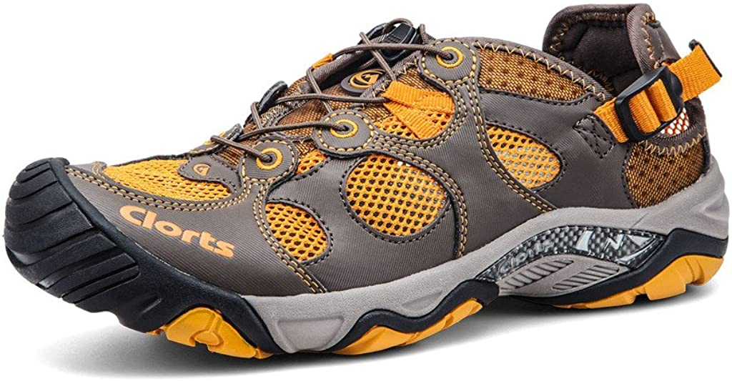 Clorts Men's Water Shoes Athletic Walking Year-end Product annual account Sport Lightweight Snea