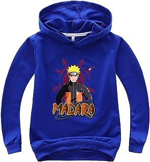 Silver Basic Sudadera con Capucha Unisex de Naruto para Niños y Niñas Fanáticos del Naruto Manga Disfraz de Naruto Kakashi
