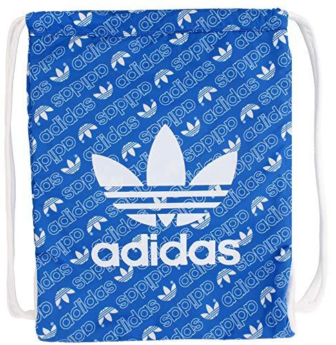 adidas Originals Sac à dos unisexe avec trèfle Bleu/blanc Taille unique