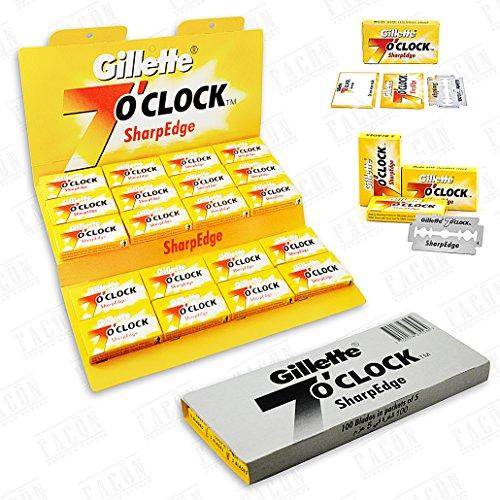 7'0Clock 100 07.00 Sharpedge Executive Premium Platinum Double Edge Rasierklingen - 200+ Shaves