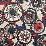 Rot blau rund Blumen Streifen Punkte Cosmo Wachstuch