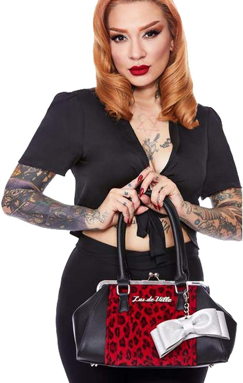 Lux De Ville Sweet Pea Kiss Lock Limited Edition Red Leopard Black Matte