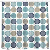 Sunlit Abstract Tree Rings Woody Artistic Fabric Shower Curtain. Nature Pale...