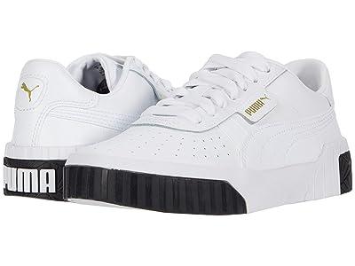 Puma Kids Cali (Big Kid) (White/Black) Girls Shoes