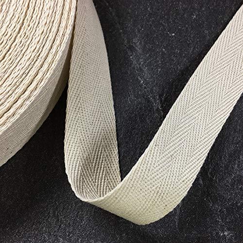 25mm (1') Herringbone Cotton Twill Tape Trim by 10-Yards, SP-2787...