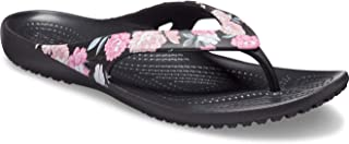 crocs Women's Floral/Black Flip-Flops-7 UK (39.5 EU) (9 US) (206097-97J)