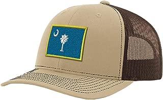 Custom Richardson Trucker Hat South Carolina State Flag Embroidery City Snaps