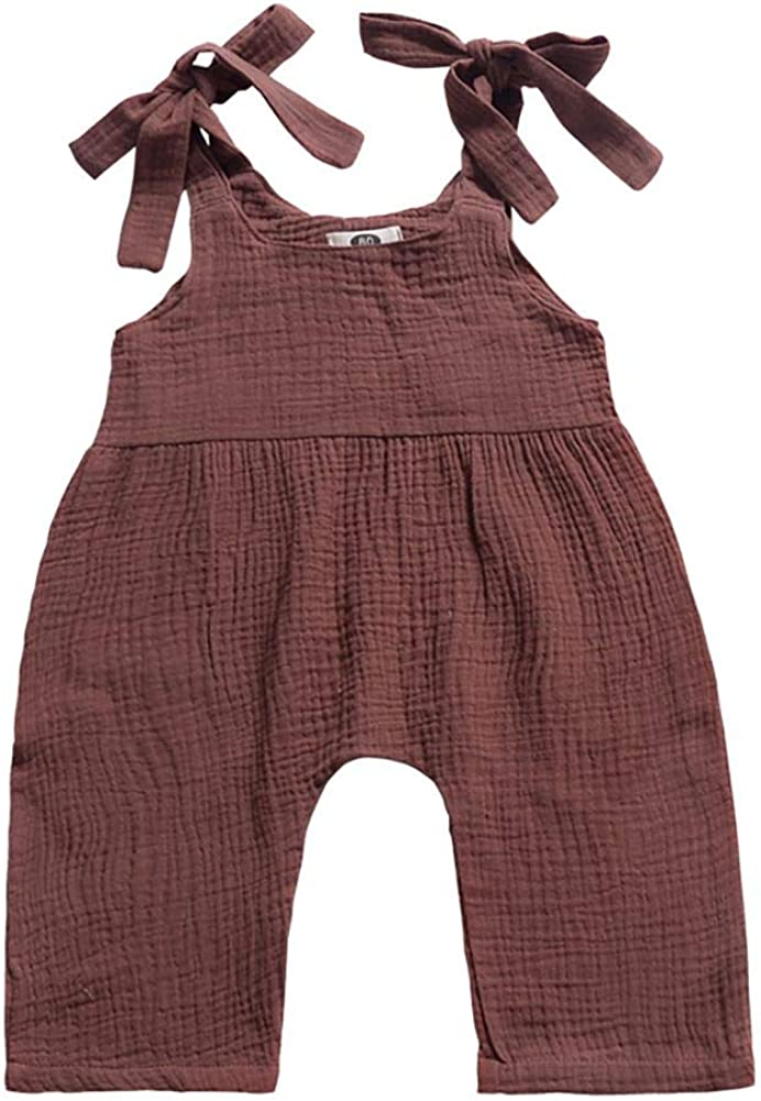 Weixinbuy Toddler Regular store Baby Girl's Year-end gift Boy's Strap Summer R Plain Overall