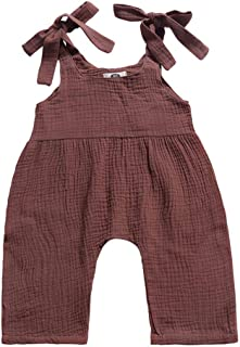 Weixinbuy Toddler Baby Girl's Boy's Strap Plain Summer Overall Romper Clothes Jumpsuit 0-3 Years