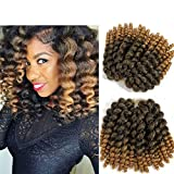 8 inch Wand Curl Braids Hair 20 Roots 3 packs JAMAICAN BOUNCE Synthetic Braiding Hair Crochet Braids Hair