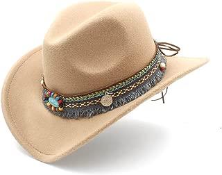 Ruiyue Western Cowboy Hat,Fashion Women Men Hat With Tassel Decoration Felt Cowgirl Sombrero Caps For Unisex