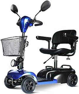 HOPELJ Silla De Ruedas Eléctrica - Folding Portable Mobility Scooter,Movilidad Reducida Minusválido,180W