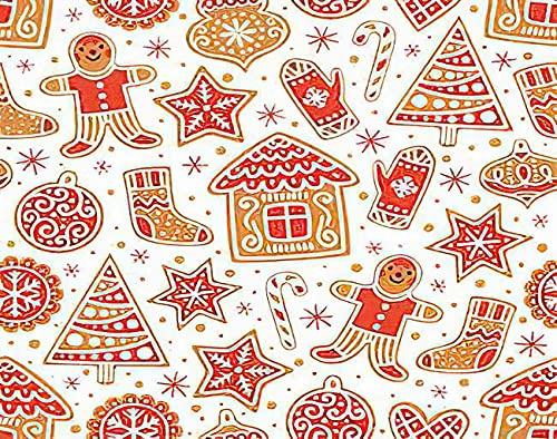 Y·JIANG Pintura de invierno por números, galletas de jengibre impresionante Navidad DIY lienzo acrílico pintura al óleo por números para adultos niños decoración de la pared del hogar, 40,6 x 40,6 cm
