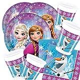 52 piezas set decoración fiesta Reina del Hielo Ice patinaje Frozen Nothern Lights- para 16 niños …